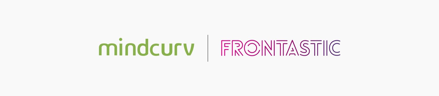 mindcurv and frontastic logos banner
